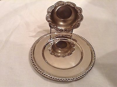 CARTIER Sterling Plate with Silver Bowl