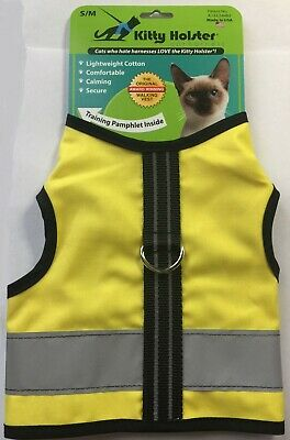 Kitty Holster Cat Reflective Safety Harness Yellow Choose Size
