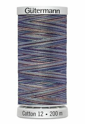 Gutermann Sulky Cotton 12, Colour 4031, VARIEGATED, 200m Spool Embroidery Thread