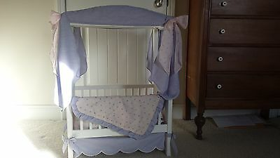American Girl Bitty Baby Canopy Crib + Accessories Retired