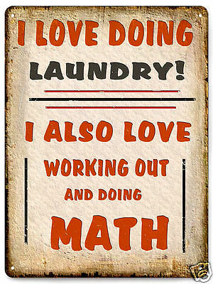 LAUNDRY ROOM METAL SIGN funny great gift vintage style wall decor humor 480