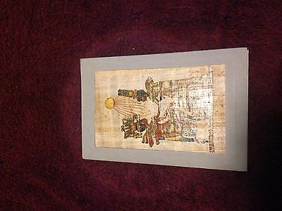 Papyrus painting mounted on a card / purchased in Egypt