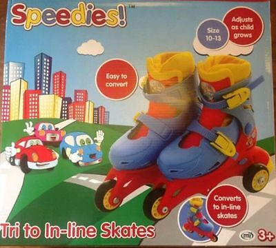 SPEEDIES Tri to Beginners Childs Toddlers In-line Roller Boot Skates NEW 3YRS +