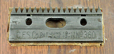 VTG Stewart Top Plate Cutting Head Replacement Blade No 360 for Stewart Clippers