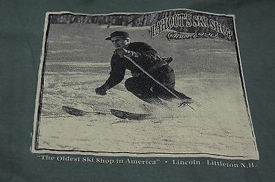 Large green shirt Lahoot's Ski Shop Littleton NH 'Oldest in the US'