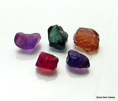 10.21cts 100% NATURAL TANZANIAN SAPPHIRE TUNDURU/UMBA MIX RARE COLORS! CLEAN