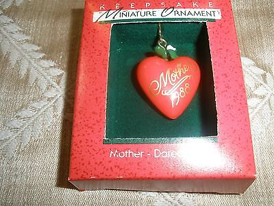 "Miniature Hallmark Ornament From 1988 ""mother"" ~T9063"