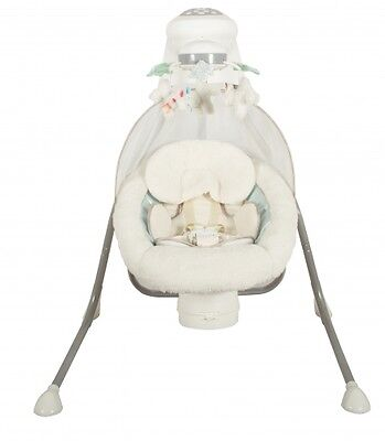 NEW Childcare Active Baby My Little Cloud Cradle Swing, White/Multi