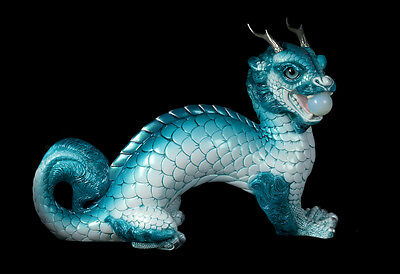 "Windstone Editions ""frost Berry "" Oriental Moon Dragon , Fantasy Animal Statue"