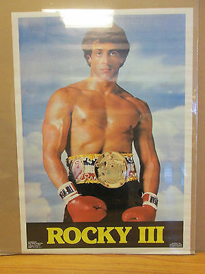vintage 1982 Rocky III original boxing movie poster Stallone 10854