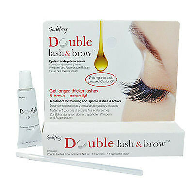 Godefroy Double Lash & Brow, Strengthens lashes and brow, rich oils and vitamins