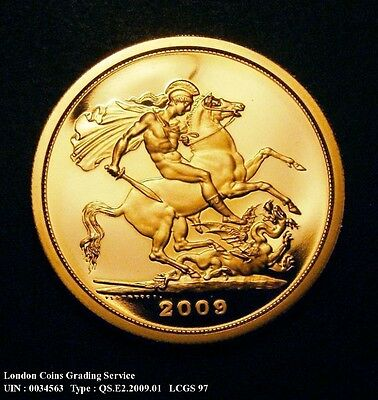 £5 Gold Crown - 2009 - Quintuple Sovereign - PROOF FDC - MS70