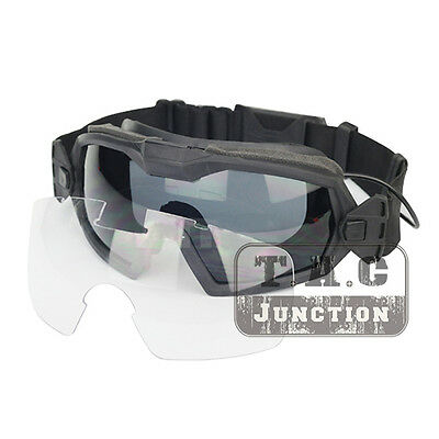 Tactical Anti-fog Lenses Eyewear Glasses Outside The Wire OTW Turbo Fan Goggles