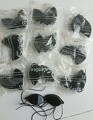 10 Pairs Solartan Goggles Indoor/Outdoor/Sunbed Protection Tanning Eye Goggles