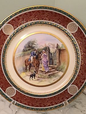 Rare Vintage Royal  Vienna Cabinet Decorative Plates,Hand Painted By Kaufman