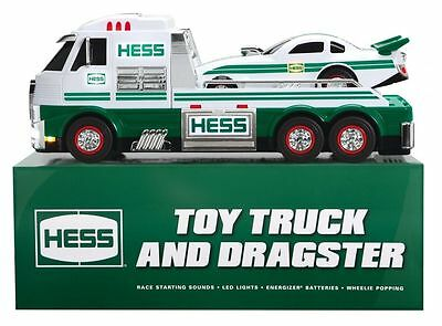 2016 HESS TOY TRUCK AND DRAGSTER - BRAND NEW! Collectible! In Sealed Orig Box