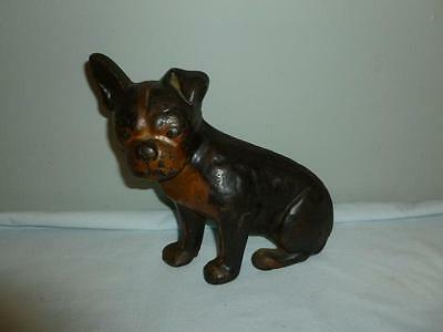 Very Rare Authentic Antique Spencer Foundry Boston Terrier Cast Iron Doorstop-BL