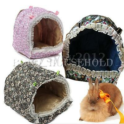 Hammock for Rat/Parrot/Rabbit/Guinea Pig/Ferret Hanging Bed Toy House Cage M-L