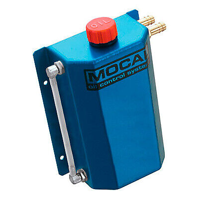 Mocal Alloy Oil Catch/Breather Tank 2 Litre Capacity In Anodised Blue CT2BLUE