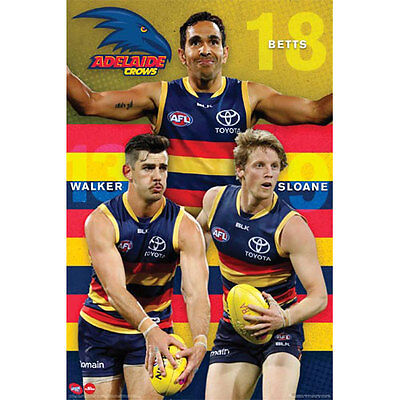 AFL - Adelaide Crows Players POSTER 61x91cm NEW * Betts Walker Sloane Footy