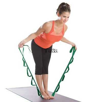 Stretch Out Strap Gym Fitness Yoga Sport Stretching Exercise Resistance Bands