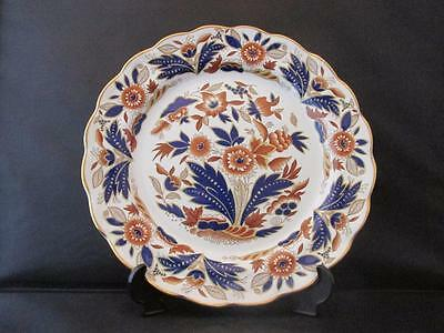Handsome Booths Dovedale Plate Floral Gilt Decoration Scalloped Edging 1910/20s