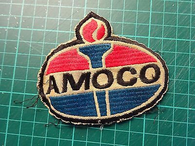 MOTOR SPORT Amoco Original Cloth Sew On Badge From The 1970's