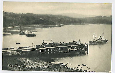 The Piers Bantry County Cork Ireland Vintage Postcard J