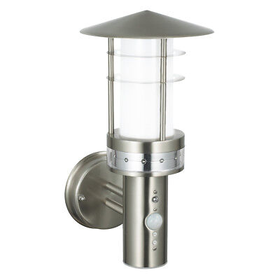 Saxby 13924 Pagoda Stainless Steel Outdoor Garden PIR Photocell IP44 Wall Light