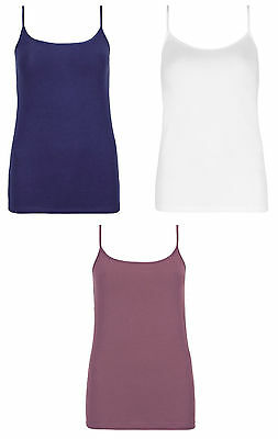 Ex- M&S Marks and Spencer Stretchy Cotton Rich Camisole Vest Top - IMPERFECTS