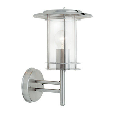Saxby 4478182 York Modern Stainless Steel 60W ES IP44 Outdoor Wall Lantern Light