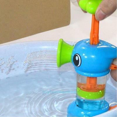 Unisex Baby Kids Bath Water Toys Pumping Design Colourful Hippocampal Shape