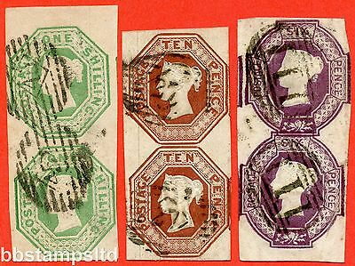 SG. 55. SG. 57 and SG. 59 wi. 1/- is Die 2. 6d is UPRIGHT REVERSED WATERMARK.