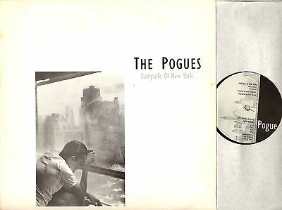 """THE POGUES & KIRSTY MCCOLL fairytale of new york 12"""" PS EX/VG+ NY 12 uk 1987"""