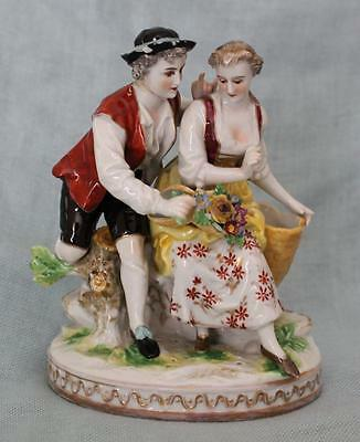 Antique Early 19th Century Ludwigsburg German Figurine Porcelain Group ~ A/F