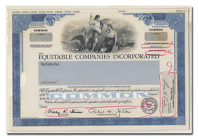 Equitable Companies Incorporated RARE American Bank Note Production Portfolio