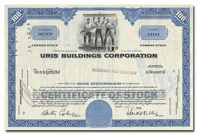Uris Buildings Corporation Stock Certificate