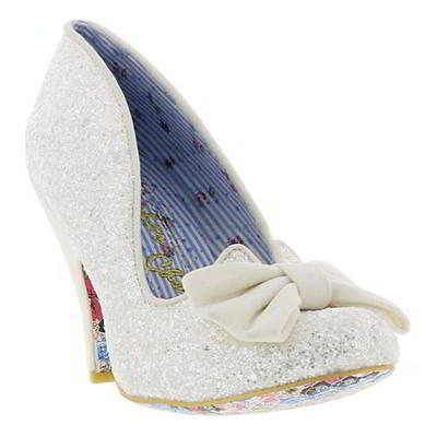 Irregular Choice Nick Of Time Womens Wedding Party Shoes Heels Size UK 4-8