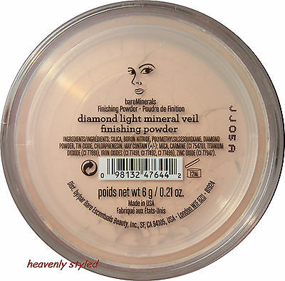 bareMinerals Diamond Light Mineral Veil Finishing Puder Fixierpuder Setting 6g