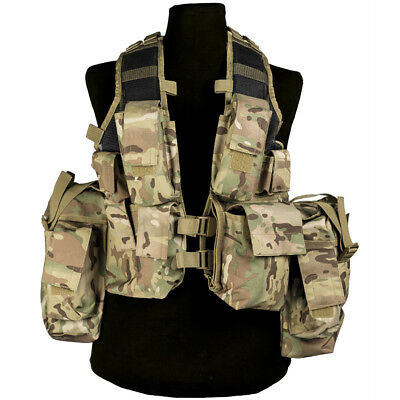 Mil-Tec South African Army Tactical Assault Military Gear Combat Vest Multitarn