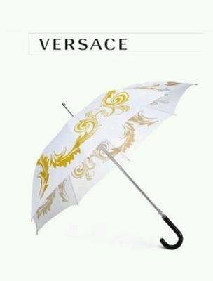 Brand New 100% Genuine Smart Trendy Versace White And Gold Executive Umbrella
