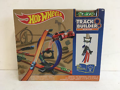 Hot Wheels Track Builder Starter Set NEW BOX DAMAGED
