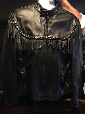 HARLEY DAVIDSON Men's WILLIE G Black Fringe Jacket Size 48