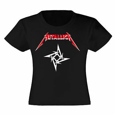 Art T-shirt, Maglietta Metallica Logo, Bambina Child Girl, Nera