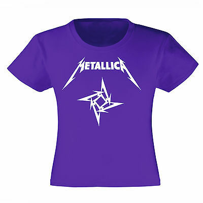 Art T-shirt, Maglietta Metallica Logo, Bambina Child Girl, Viola