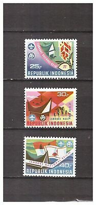 s14414) INDONESIA 1977 MNH** Scout 3v