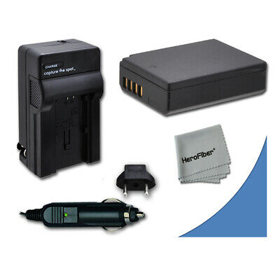 LP-E10 LPE10 Battery + Quick AC/DC Charger for Canon EOS Rebel T5 DSLR Camera