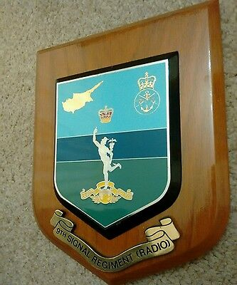 9th Signal Regiment Royal Corps of Signals Crest Shield Plaque Cyprus