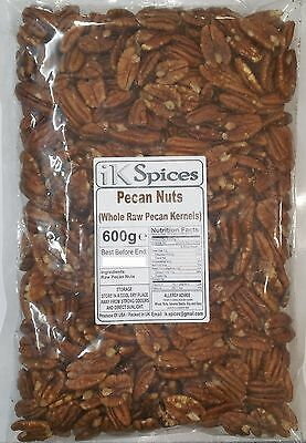 Pecan Nuts (Whole Raw Kernals) 600g BEST PRICE BBE:DEC 2017