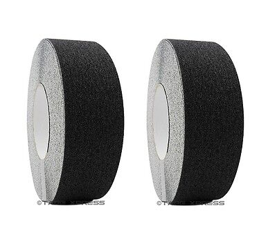 "2 rolls 2"" x 60 Black Non Skid Adhesive Tape 60 Grit Grip Anti Slip Traction"